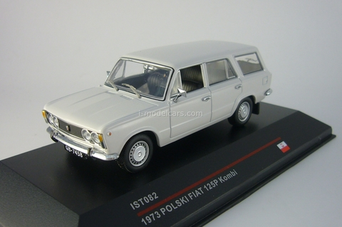 Polski Fiat 125P Kombi light grey 1975 IST082 IST Models 1:43