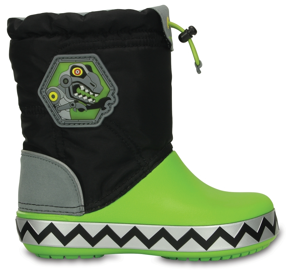Детские сапожки для мальчиков Kids' CrocsLights LodgePoint RoboSaur