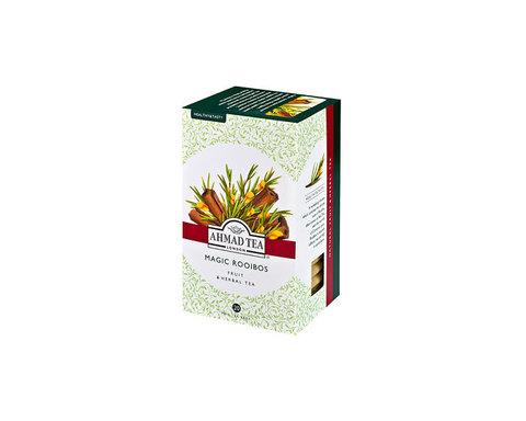 Чай травяной в пакетиках из фольги Ahmad Tea с корицей (Мэджик ройбуш), 20 пак/уп