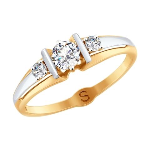 017846 -Кольцо  из золота с фианитами