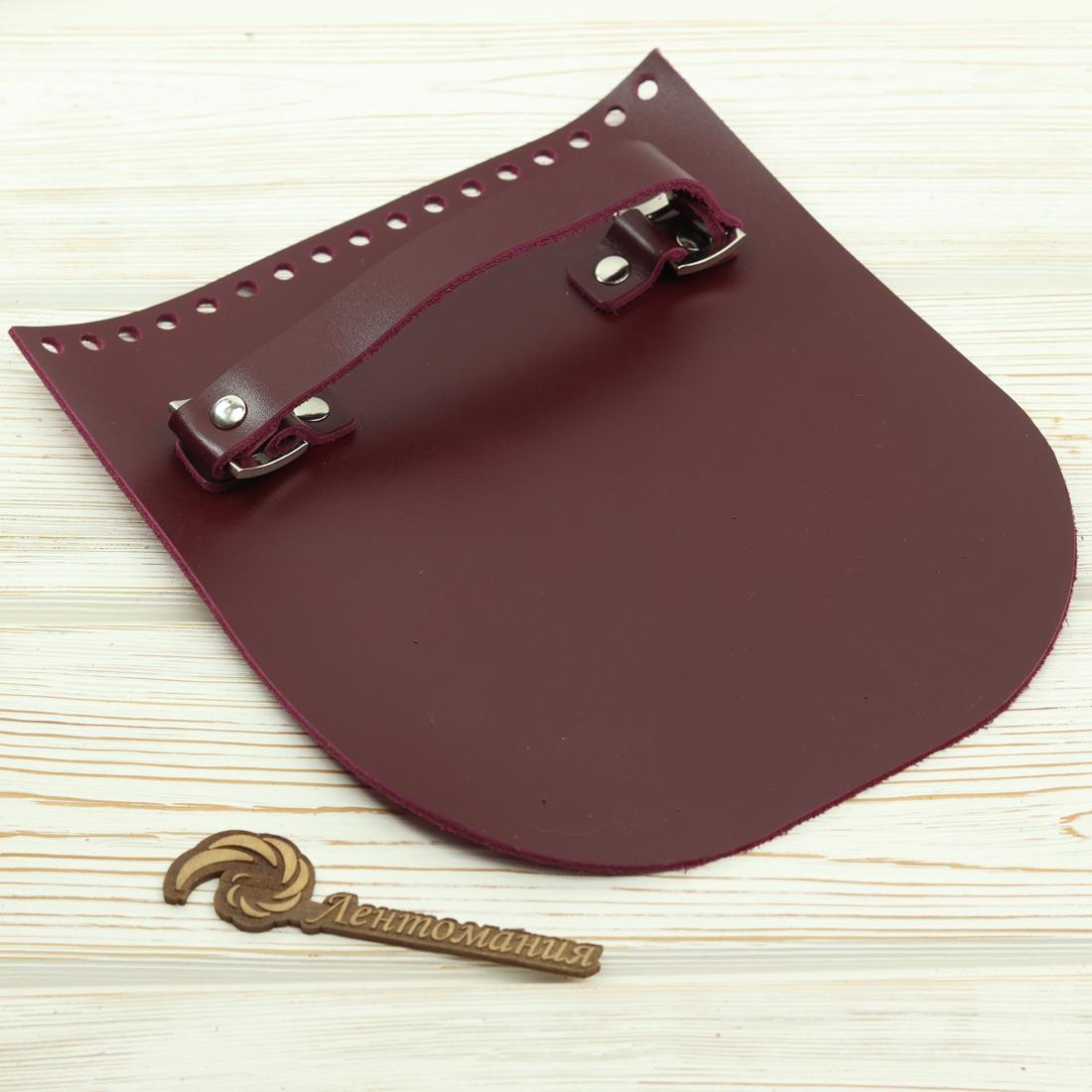 """Вся фурнитура Клапан для сумочки с ручкой кожаный """"Вино"""" IMG_6133.jpg"""