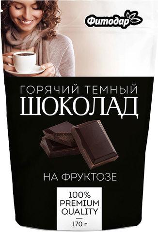 """Какао-напиток """"Горячий шоколад темный"""" на фруктозе Фитодар, 170г"""
