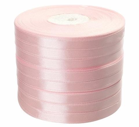 Лента атласная в уп. 8 шт. (размер: 10 мм х 50 ярд) Цвет: светло-розовая