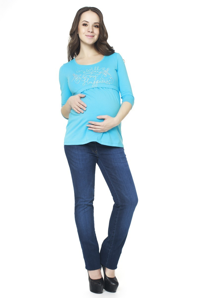 Блузка для беременных 07371 голубой