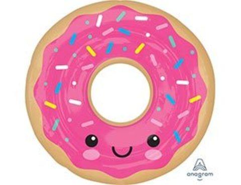 Фольгированный шар Пончик в розовой глазури