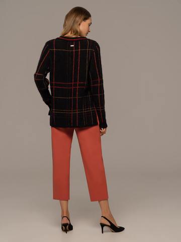 Женские брюки терракотового цвета из шерсти - фото 2