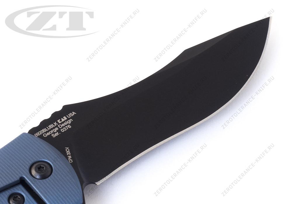 Нож Zero Tolerance 0920BLUBLK Les George - фотография
