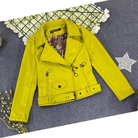 Куртка экокожа девочке (5-9) 210205-J7120