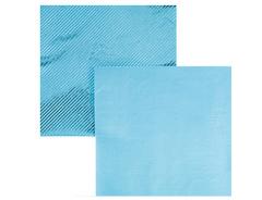 Салфетки фольгированные, Голубой, 33 см, 6 шт, 1 уп.