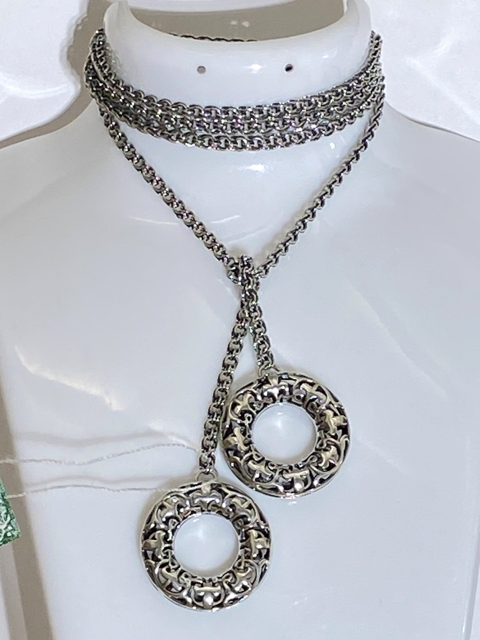 Бублик (цепь-галстук из серебра)