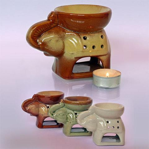 Аромалампа  Слон с чашей на спине