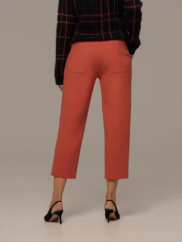 Женские брюки терракотового цвета из шерсти - фото 3