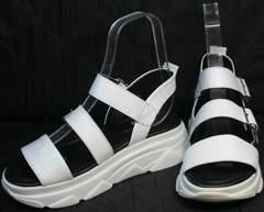 Босоножки сникерсы женские Evromoda 3078-107 Sport White