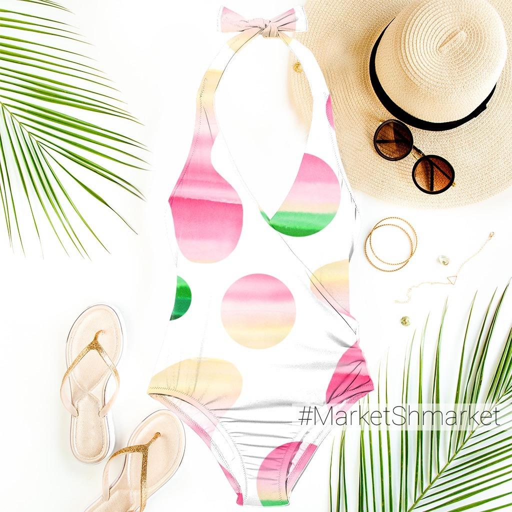 Абстракция - акварельный пляж