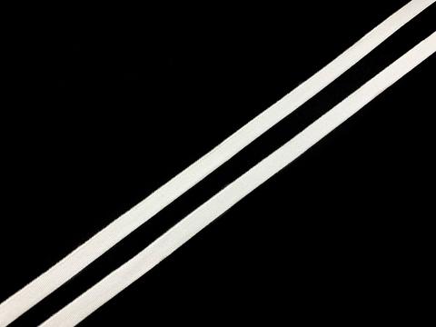 Резинка отделочная белая 7 мм, кант (цв. 001)