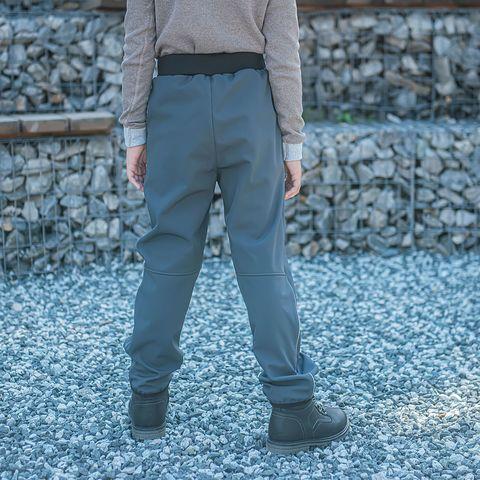 Softshell demi-season trousers for teens - Graphite