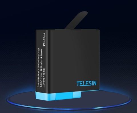 Аккумулятор для GoPro HERO 5/6/7/8 1220 mAh Telesin (GP-BTR-801)