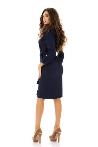 Платье миди , синее 1