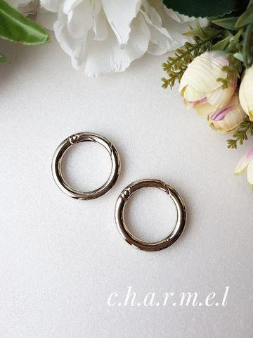 Карабин-кольцо серебро, D 32 мм