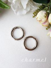 Карабин-кольцо серебро, d 30 мм