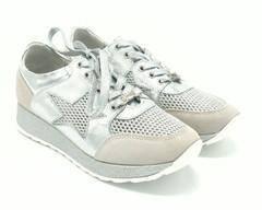 Комбинированные кроссовки с перфорацией