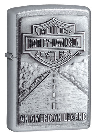 Зажигалка Zippo Harley-Davidson American Legend Emblem с покрытием Street Chrome, латунь123