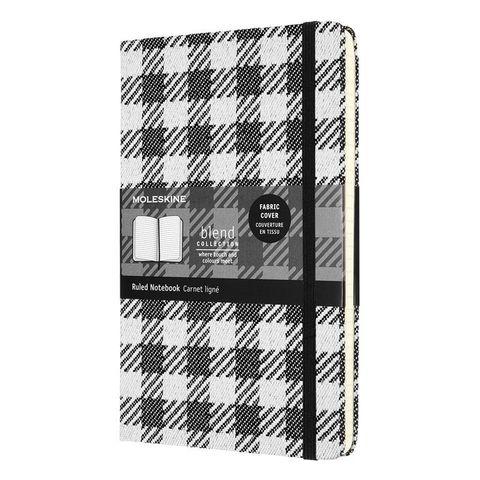 Блокнот Moleskine LE Blend (LCBD07QP060A) 130х210 мм текстиль 240 стр линейка белый/черный