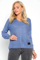 <p>Пуловер с люрексом- актуальная модель на осень.Идеальный женственный вариант на каждый день!&nbsp;</p> <p>(Один размер: 44-50)</p>