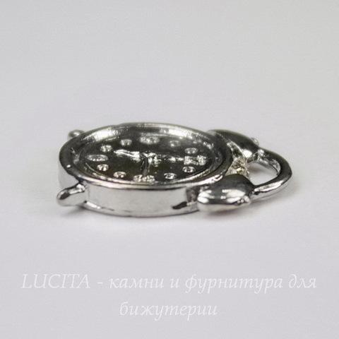 """Подвеска """"Будильник"""" 18х13 мм (цвет - платина) 18х13 мм"""