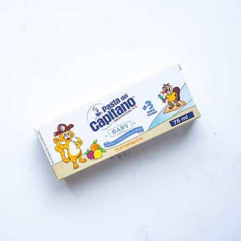 Зубная паста детская фруктовая Baby Pasta del Capitano, 75 мл