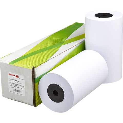 Бумага широкоформатная Xerox Architect (диаметр втулки 76 мм, длина 175 м, ширина 297 мм, плотность 75 г/кв.м, белизна 170 %)