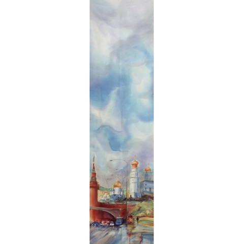 Шелковый шарф батик Моя Москва С-57