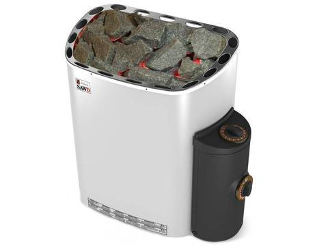 Электрическая печь SAWO SCANDIA SCA-80NB-Z (8 кВт, встроенный пульт, внутри оцинковка, снаружи нержавейка)