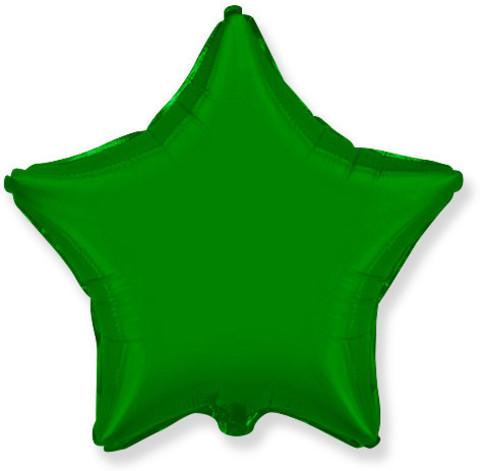Воздушный шар звезда большая, Зеленый, 81 см