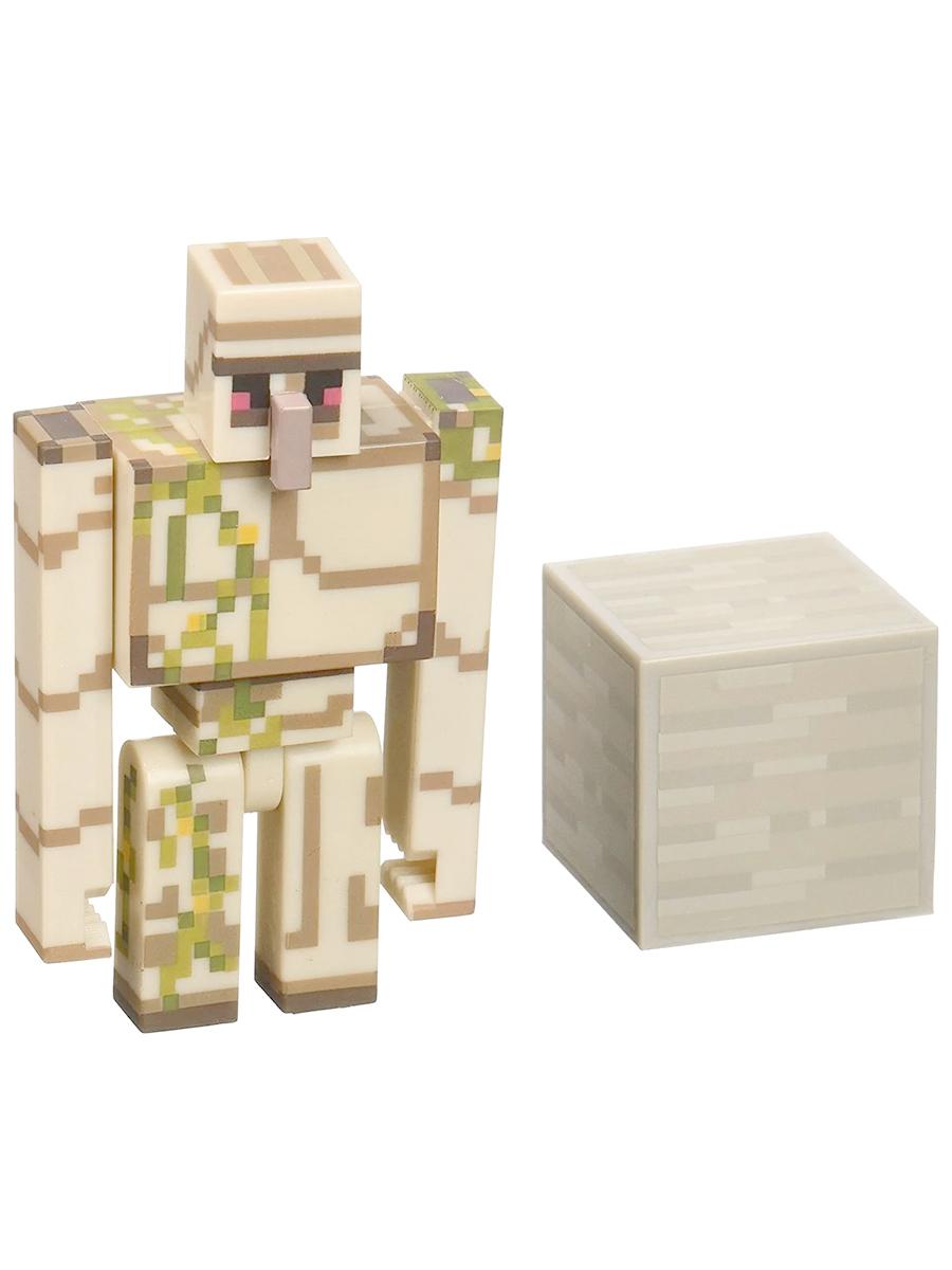 Фигурка Minecraft Iron Golem Железный голем с аксессуарами пластик 8см