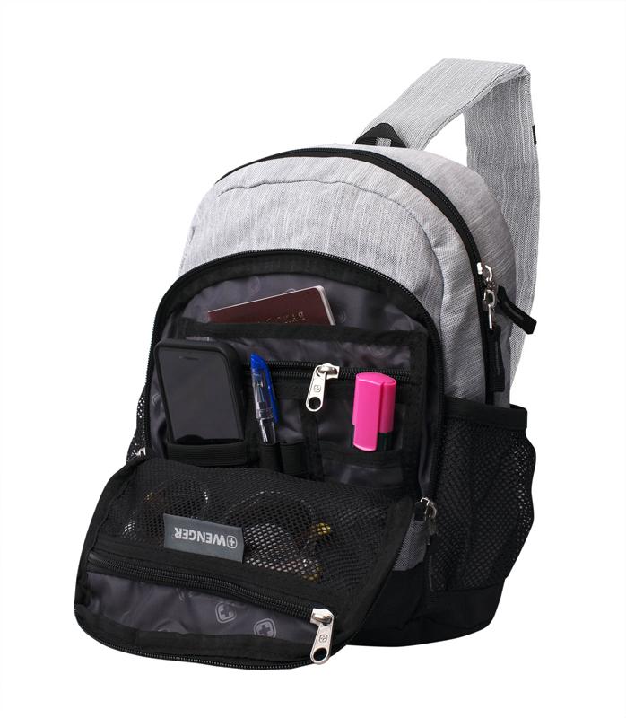 Рюкзак WENGER с одним плечевым ремнём, цвет серый, 13 л., 34х24x14 см. (2610424550) - Wenger-Victorinox.Ru