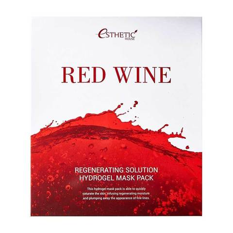 Гидрогелевая маска для лица Esthetic House Red Wine Regenerating Solution Hydrogel Mask