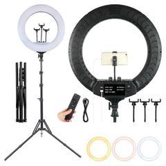Кольцевая светодиодная лампа со штативом LED Soft Ring Light RL-21 (диаметр 54 cм) с пультом ДУ
