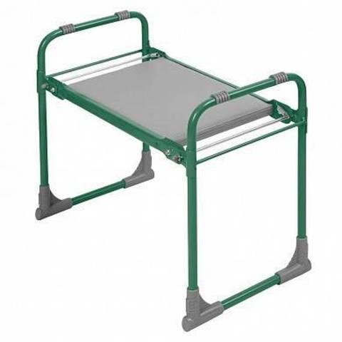 Складная садовая скамейка-перевертыш  с пластиковым сиденьем зеленая