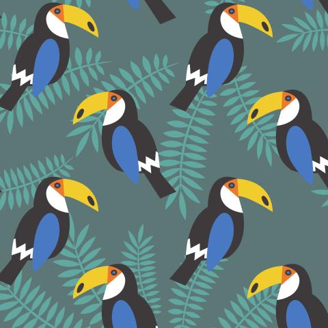 синие туканы