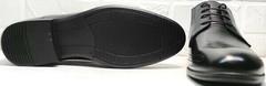 Мужские черные туфли на шнуровке Ikoc 3416-1 Black Leather.