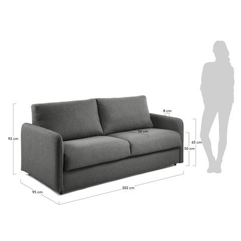 Диван-кровать Komoon 160 полиуретановый графит