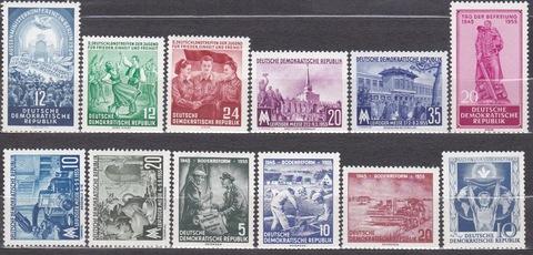лот марок 1954-5 все **MNH