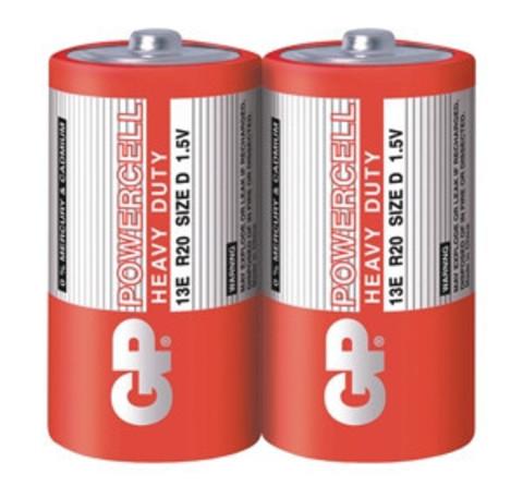 Батарейки GP 13E-S2 Powercell R20, D, трей 20/200