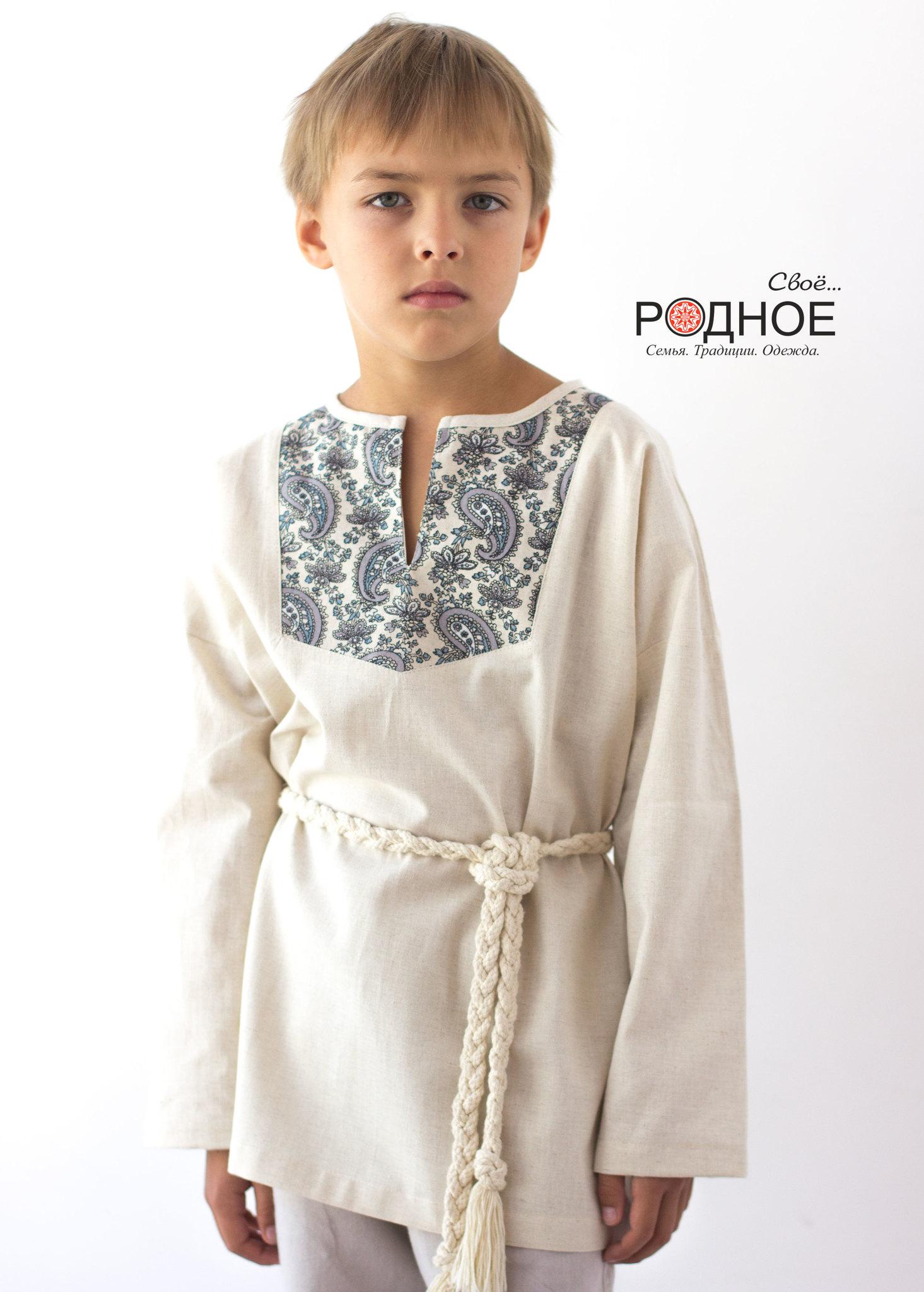 Рубаха на мальчика в русском стиле Огурцы Свое... Родное для Иванка