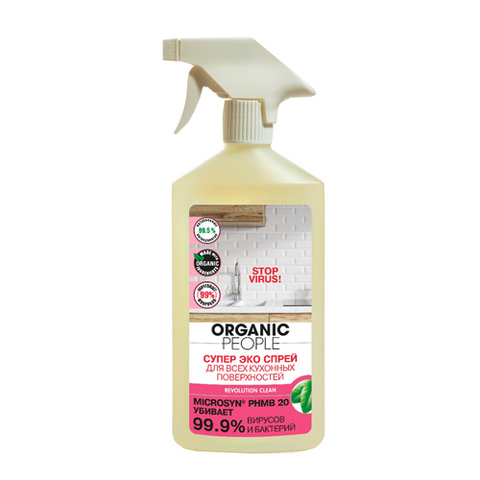 Organic PEOPLE, Супер эко спрей для всех кухонных поверхностей, 500мл