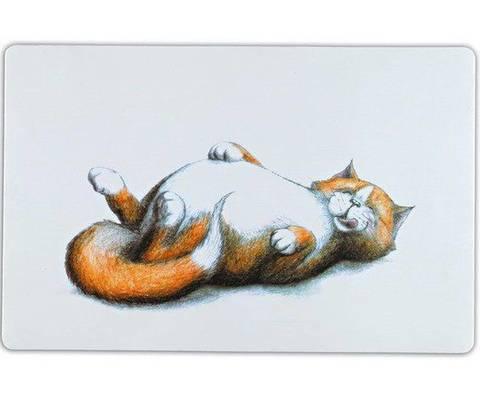 TRIXIE Thick cat коврик под миску белый 44 см х 28 см
