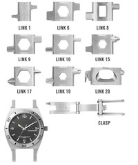 Часы-мультитул Leatherman Tread Tempo LT набор функций и инструментов   Multitool-Leatherman.Ru