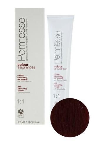 Крем-краска для волос 6.66 Темный блондин красный глубокий Permesse, Barex