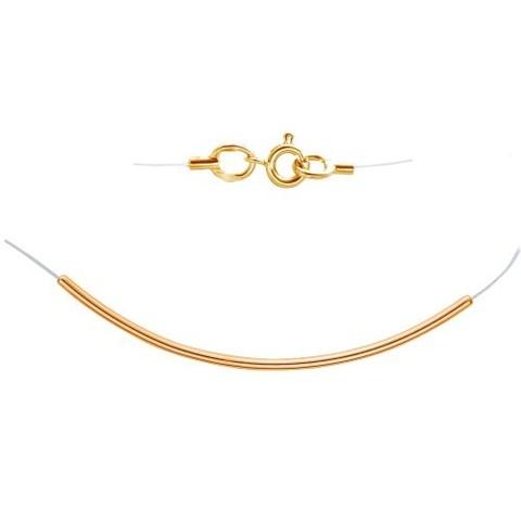 01Л011673 - Оригинальная подвеска из золота 585 пробы на леске-невидимке